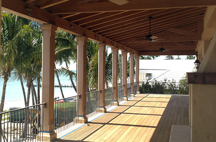 Teak porch floor in Florida
