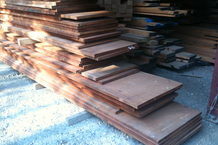 stacks of genuine mahogany
