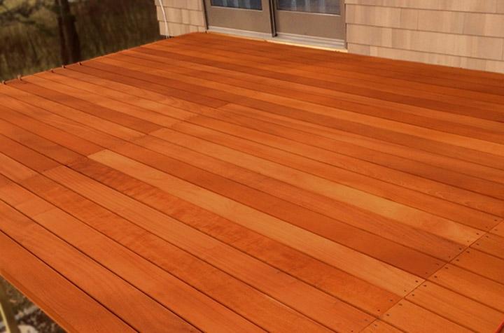 red balau deck