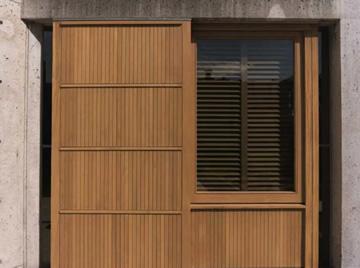 salk teak wood window restored